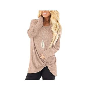 Stylish Side Knot Long Sleeves Top